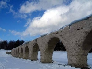 糠平湖 タウシュベツ橋梁