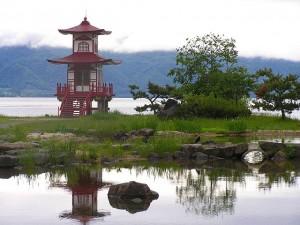 洞爺湖_浮見堂公園