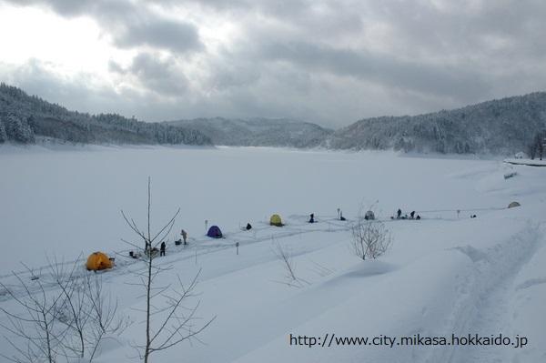 桂沢湖 ワカサギ釣り